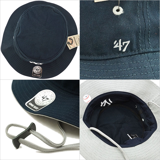 c998f8d9f5e Forty seven Yankees  47 Kirby pail hat Yankees  47 Kirby Bucket hat men gap  Dis Navy (KIRBY17GWF FW18)