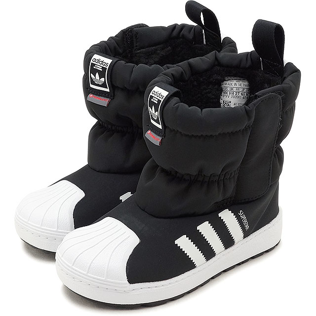 46319772797 adidas Originals Adidas originals kids SST WINT3R CF I superstar winter boots  in fan toss knee car shoes C black  R white  R white (B22502 FW18)