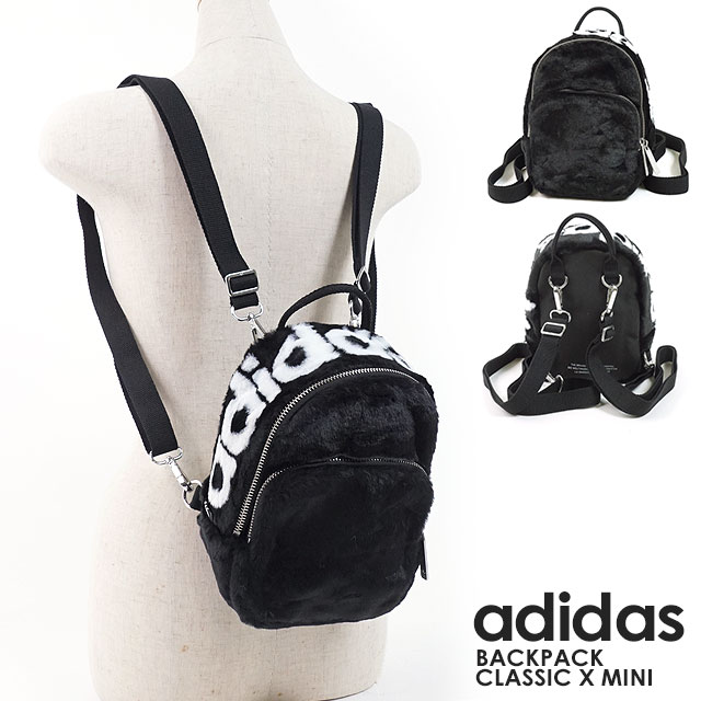 adidas Originals Adidas originals bag fur rucksack BACKPACK CLASSIC X MINI  backpack classical music X mini-day pack Lady s (FJC63 DH4372 FW18) 6204fa08d5cd3