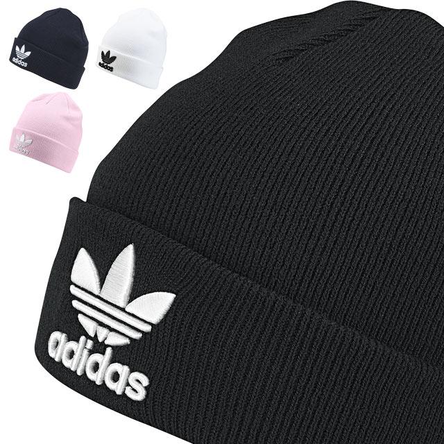87be78c34b3 adidas Originals Adidas originals knit cap TREFOIL BEANIE トレフォイルビーニーニット hat  men Lady s (MLH83 BK7634 BK7639 DH4299 DH4295 FW18)