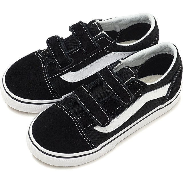 3c5c186597 VANS station wagons KIDS kids OLD SKOOL V old school Velcro vans sneakers  shoes BLACK (VN000D3YBLK FW18)