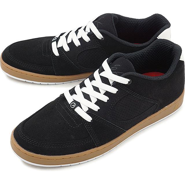 【即納】eS エス ACCEL SLIM アクセル スリム スニーカー 靴 スケートシューズ スケシュー メンズ・レディース BLACK/GUM/WHITE (FW18)【コンビニ受取対応商品】