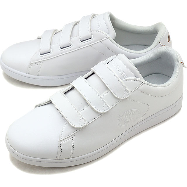 7a076efb8 LACOSTE Lacoste CARNABY EVO STRAP 318 3 カーナビーエヴォストラップスニーカー shoes men white  (SM0018L FW18)