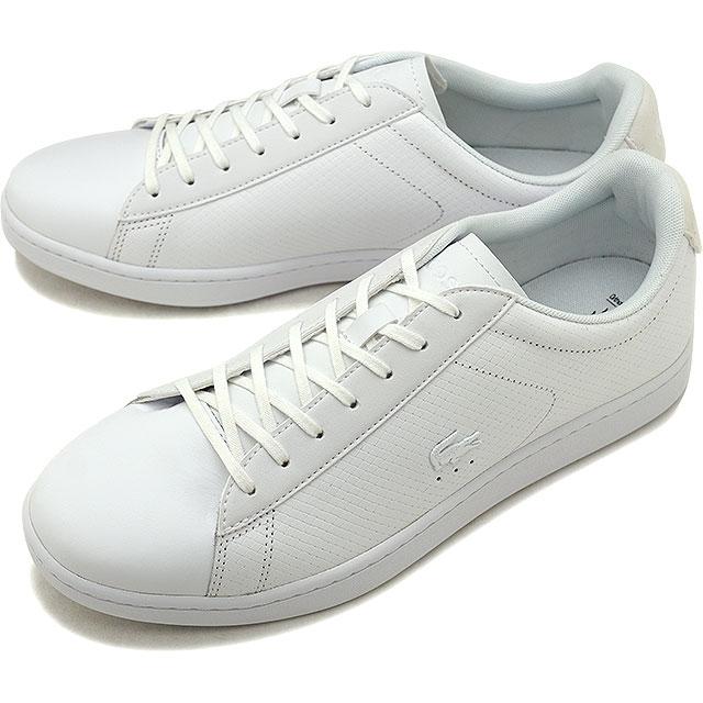 【即納】LACOSTE ラコステ CARNABY EVO 318 7 カーナビー エヴォ スニーカー 靴 メンズ ホワイト [SM0012L]