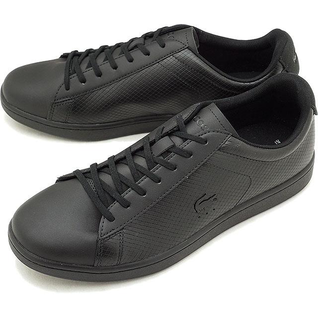 LACOSTE ラコステ CARNABY EVO 318 7 カーナビー エヴォ スニーカー 靴 メンズ ブラック (SM0012L FW18)【コンビニ受取対応商品】