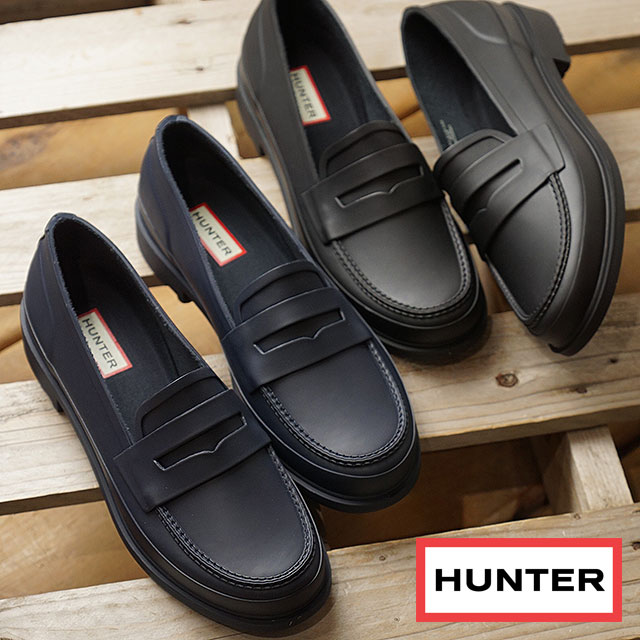 243eb971b13 HUNTER hunter Lady s loafer REFINED PENNY LOAFER MATTE re-find penny loafer  mat penny loafers shoes (WFF1006RMA FW18)