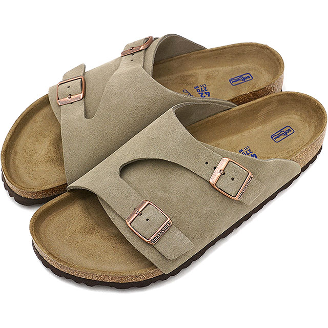 1301bc82a5355 BIRKENSTOCK ビルケンシュトックチューリッヒソフトフットベット Zurich SFB suede cloth leather sandal  men Lady's Taupe ...