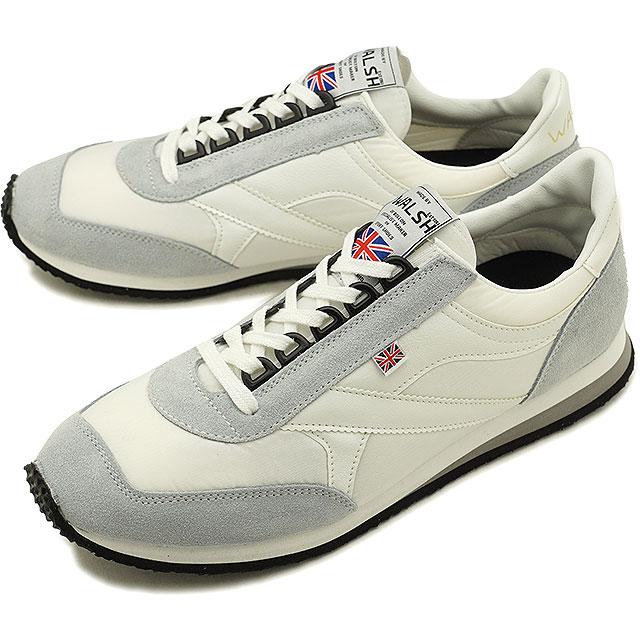 【即納】ウォルシュ WALSH 英国製 ボイジャーVoyagerメンズ スニーカー 靴ホワイト [VOY50154 FW18]