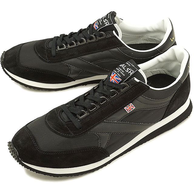 【即納】ウォルシュ WALSH 英国製 ボイジャーVoyagerメンズ スニーカー 靴ホワイト/ブラック (VOY50155 FW18)【コンビニ受取対応商品】