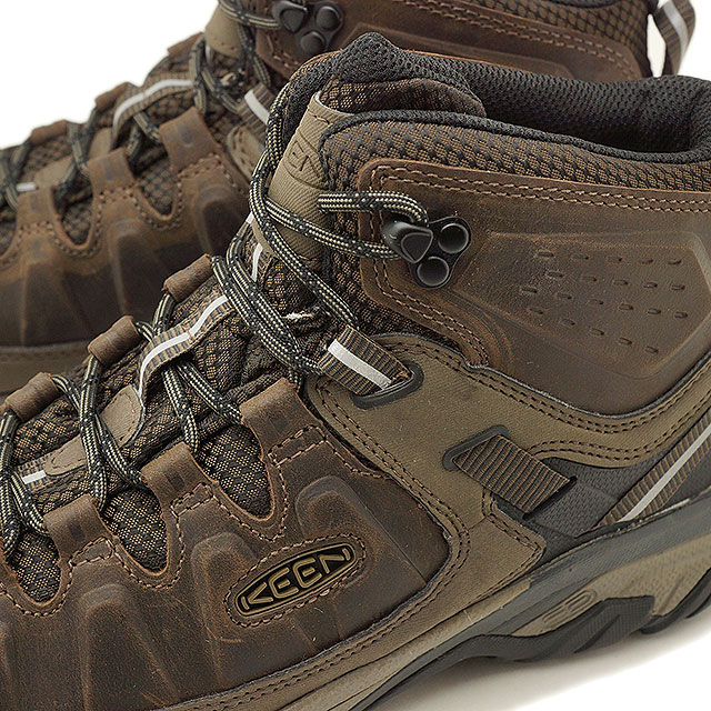 a7f528776ea Kean KEEN men Targhee three mid waterproof MEN TARGHEE III MID WP hiking  trekking shoes boots shoes Canteen/Mulch (1020178 FW18)