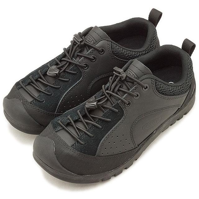 """キーン KEEN レディース ジャスパー ロックス エスピー WOMEN JASPER """"ROCKS"""" SP コンフォートシューズ アウトドアスニーカー 靴 Triple Black (1019872 FW18)【コンビニ受取対応商品】"""