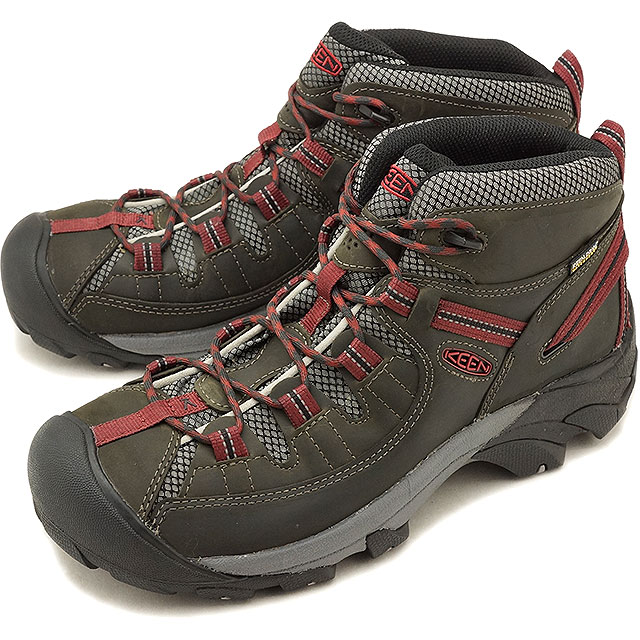 6f6f66a4031 Kean KEEN men Targhee two mid waterproof MEN TARGHEE II MID WP hiking  trekking shoes boots shoes Alcatraz Fired Brick (1019462 FW18)