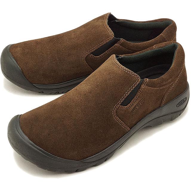 キーン KEEN メンズ オースティン カジュアル スリップ エスディー MEN AUSTIN CASUAL SLIP SD リラックス コンフォートシューズ モック 靴 Dark Earth [1019609 FW18]