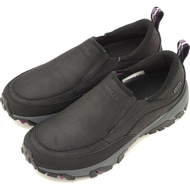 メレル MERRELL レディース コールドパック アイスプラス モック ウォータープルーフ W COLDPACK ICE+ MOC WATERPROOF ウィンターシューズ 靴BLACK (15752 FW18)【コンビニ受取対応商品】