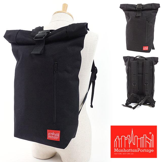 【即納】マンハッタンポーテージ Manhattan Portage ヒルサイド バックパック JR Hillside Backpack JR ロールトップ リュックサック バックパック メンズ レディース バッグ かばん BLACK (MP1253JR)