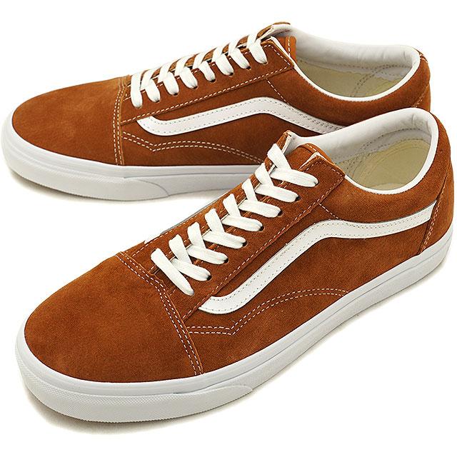 VANS station wagons PIG SUEDE PIIGS aide OLD SKOOL old school vans sneakers shoes  LEATHER BROWN TRUE WHITE (VN0A38G1U5K FW18) 2bc7fcc26