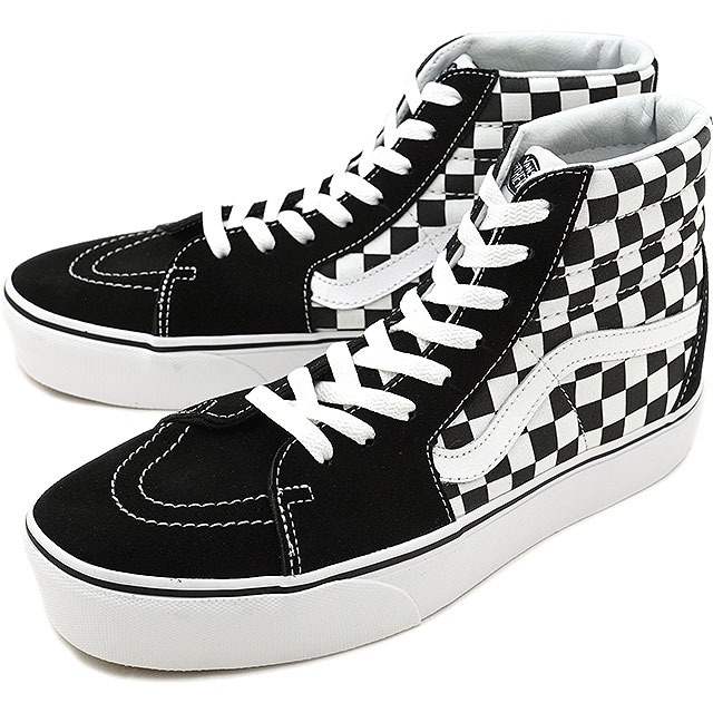 f0bdeee600 VANS station wagons CHECKERBOARD checkerboard SK8-HI PLATFORM 2.0 skating high  platform 2.0 スケハイバンズスニーカー shoes TRUE WHITE (VN0A3TKNQXH FW18)