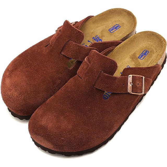 BIRKENSTOCK ビルケンシュトック ボストン ソフトフットベット Boston SFB スウェードレザー サンダル 靴 メンズ・レディース Port [GC1011298 FW18][e]