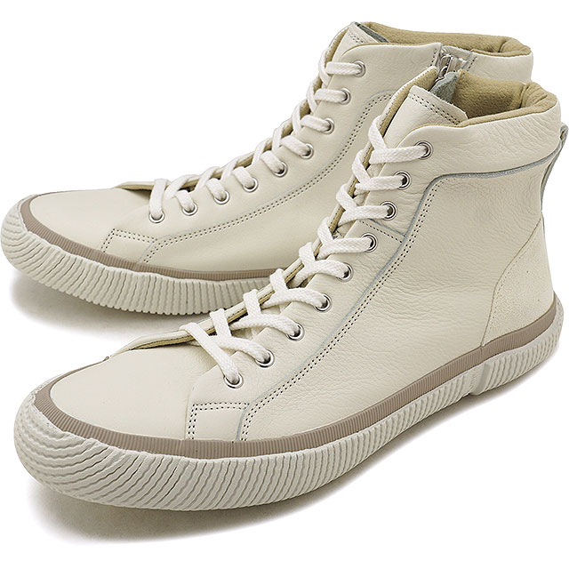 【即納】【返品送料無料】スピングルムーブ SPINGLE MOVE SPM-457 ソフトレザー ZIP スニーカー メンズ レディース 靴 シューズ White (SPM457-61 FW18)【コンビニ受取対応商品】