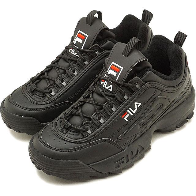 Fila heritage FILA ディスラプター 2 DISRUPTOR 2 men's lady's sneakers shoes black  [F0215-1073 FW18]