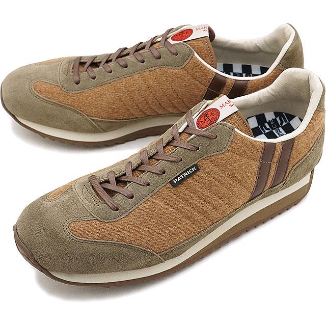 【即納】【返品送料無料】パトリック PATRICK マーリン・マラソン MARLING-M メンズ レディース スニーカー 靴 キャメル CML (530583 FW18)【コンビニ受取対応商品】