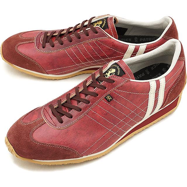 【即納】【返品送料無料】パトリック PATRICK アイリス・ホース IRIS-HS メンズ レディース スニーカー 靴 レッド RED (530637 FW18)【コンビニ受取対応商品】