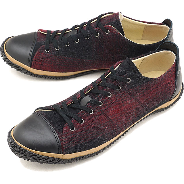 【返品送料無料】スピングルムーブ SPINGLE MOVE SPM-226 ウールテキスタイル ローカット スニーカー メンズ 靴 シューズ Black/Red [SPM226-77 FW18WINTER]