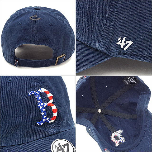 67a4debf7 ... Forty seven brand '47 Brand cap MLB Red Sox Spangled Banner '47 CLEAN UP