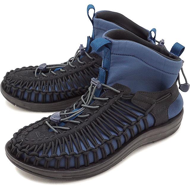 キーン KEEN メンズ ユニーク エイチティー ミッド MEN UNEEK HT MID ブーティー シューズ スニーカー サンダル 靴 Black/Blue Wing Teal [1019976 FW18]