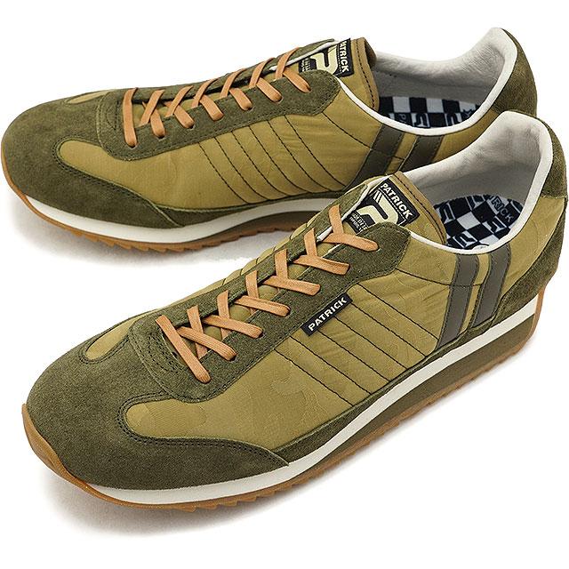 【即納】【返品送料無料】パトリック PATRICK マラソン・カモジャカード MARATHON-CJ メンズ レディース スニーカー 靴 カーキ KK (530878 FW18Q4)【コンビニ受取対応商品】