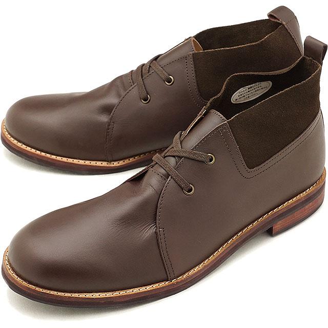 【5%OFFクーポン対象品】【返品送料無料】フットスタイル FOOT STYLE メンズ ウィングチップ サイドゴアブーツ 靴 ビジネス カジュアルD.BROWN [FS-1127M FW18]
