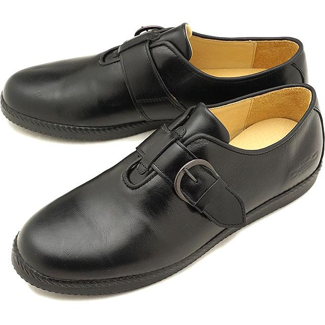 【5%OFFクーポン対象品】トップセブン TOP SEVEN TS-5517 モンクストラップ レザー ラグジュアリー スニーカー BLACK メンズ 靴 [FW18]