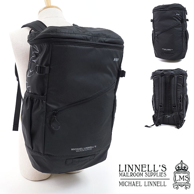 【コラボ】マイケルリンネル × ナンバーナイン MICHAEL LINNELL NUMBER (N)INE トスパック Toss Pack メンズ レディース バックパック リュックサック デイパック 通勤 通学 スクールバッグ カバン BLACK [NDA-819 FW18]