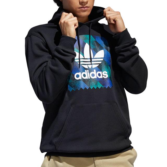 Adidas skateboarding adidas Originals men parka TOWNING HOODIE トレフォイルロゴプルオーバーフーデッドブラック [FUE63DU8370 SS19]