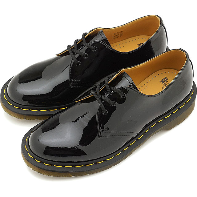 wähle authentisch Wert für Geld unverwechselbares Design Doctor Martin Dr.Martens 3 hall shoes patent orchid soft-headed 1461 PATENT  LAMPER men Lady's shoes BLACK [10084001 SS19]
