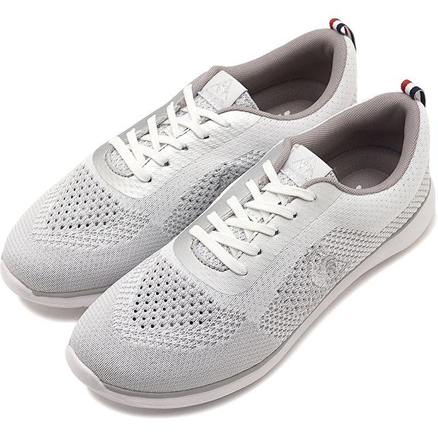 8737d417460b40 【即納】ルコックlecoqsportifLAエールフランスニットスタイルLAAIREFRANCEKNITSTYLEレディースフェミニンスニーカー 靴ホワイト(