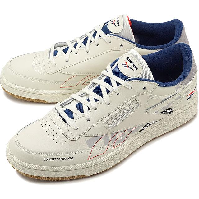 【即納】リーボック クラシック Reebok CLASSIC クラブ85 オルターザアイコン CLUB C 85 ATI メンズ スニーカー 靴 CHALK/GREY/BLUE ホワイト系 [DV8961 SS19]