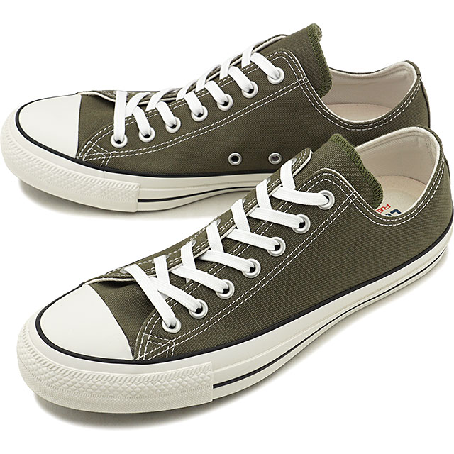 Converse CONVERSE all stars 100 colors low frequency cut ALL STAR 100 COLORS OX [OLIVE khaki system] [31300342 FW19]