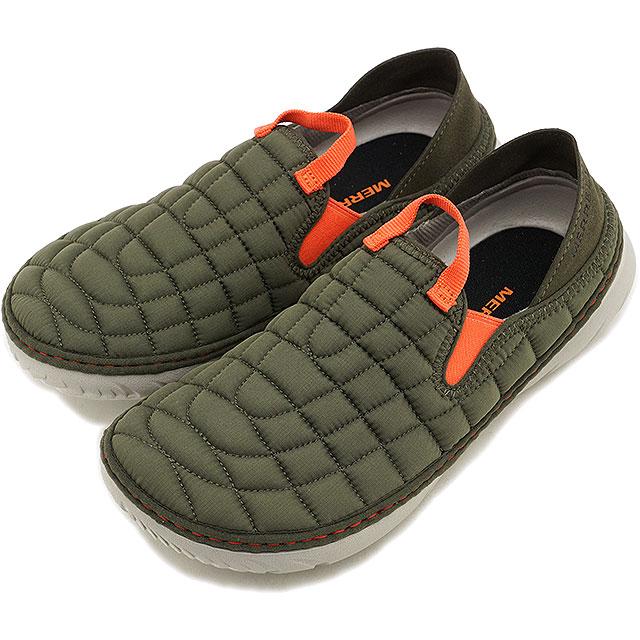 メレル MERRELL レディース ハット モック W HUT MOC キャンプモック アウトドア ライフスタイルシューズ スニーカー 靴 OLIVE カーキ系 [J75570 FW19]
