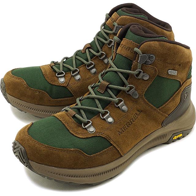 【30%OFF/ラスト1足27.5cm】メレル MERRELL メンズ オンタリオ85 ミッド ウォータープルーフ M ONTARIO 85 MID WATERPROOF アウトドア ライフスタイルシューズ スニーカー 靴 FOREST グリーン系 [J16929 FW19]【ts】【e】