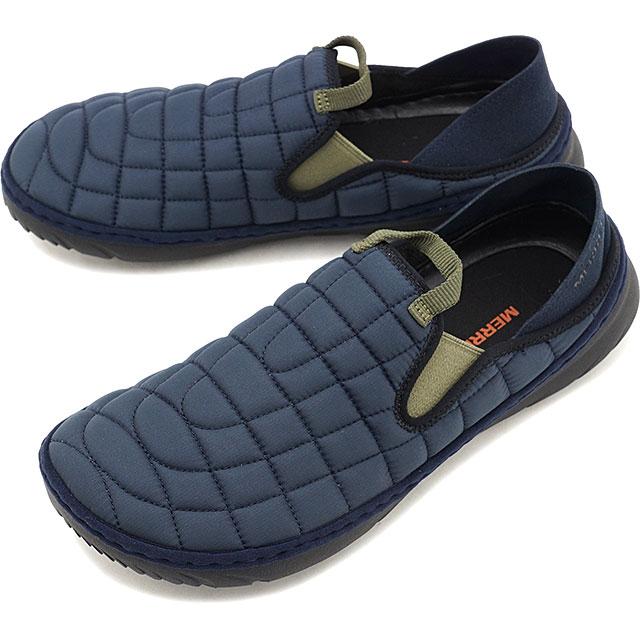 メレル MERRELL メンズ ハット モック M HUT MOC キャンプモック アウトドア ライフスタイルシューズ スニーカー 靴 NAVY ネイビー系 [J5001071 FW19]