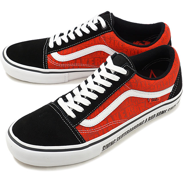 Vans X Baker VANS X BAKER old school pro OLD SKOOL PRO men  レディースヴァンズスケシュースニーカー shoes BLACK/WHITE/RED red system [VN0A45JCUZV FW19]