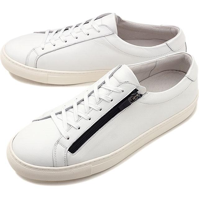 ヨーク YOAK メンズ スタンレー ジップ STANLEY ZIP 日本製 スニーカー 靴 WHITE ホワイト系 [FW19]