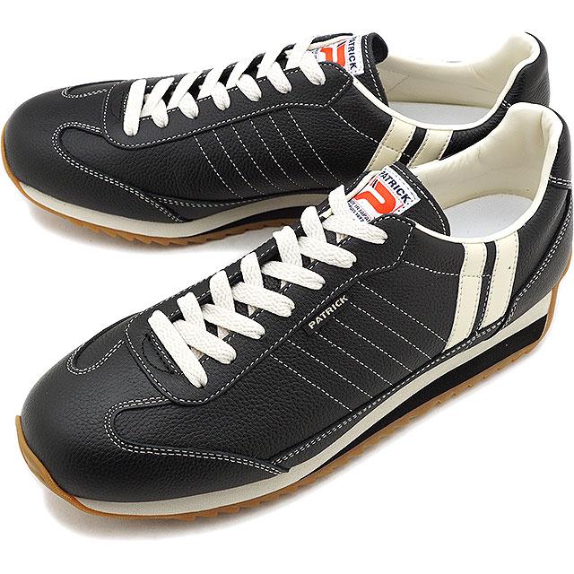 今季も再入荷 定番モデル あす楽対応 最新号掲載アイテム 送料無料 パトリック スニーカー マラソン レザー 2 10限定 カードで最大15倍 返品送料無料 MARATHON-L メンズ PATRICK 日本製 BLACK 靴 黒 レディース ブラック 98701