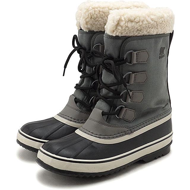 【5/1限定!カード&エントリー10倍】ソレル SOREL レディース ウィンターカーニバル WINTER CARNIVAL メンズ・レディース スノーブーツ ウィンター アウトドア 防寒靴 QUARRY/BLACKグレー系 [NL3483-052 FW19]