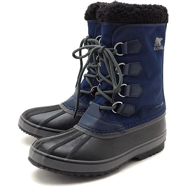 【5/1限定!カード&エントリー10倍】ソレル SOREL メンズ 1964 パックナイロン 1964 PAC NYLON メンズ・レディース スノーブーツ ウィンター アウトドア 防寒靴 C.NAVY/BLACKネイビー系 [NM3487-465 FW19]