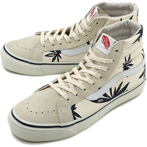 VANS vans sneakers VALUT OG SK8-HI LX ( PALM LEAF ) Volt original スケートハイ LX  ( PALM LEAF ) ( VN-0OZE5LC SS12 ) WHITE NAVY fs3gm b2a4465b4