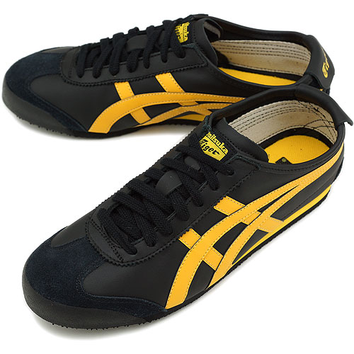 new style 33c48 60c4e ■■Onitsuka Tiger Onitsuka tiger sneakers MEXICO 66 Mexico 66 black / yellow  (THL7C2-9004 FW12)