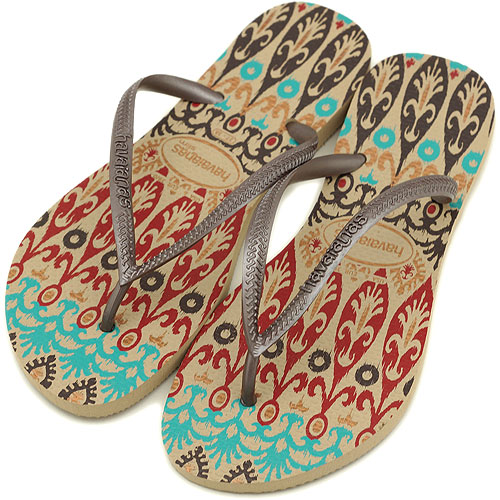22dccca58 □□havaianas Hawaii holes sandals SLIM ETNICS スリムエトニクス S-GRAY (C115510 0154)