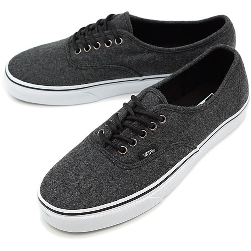 04ca5b725d VANS vans sneakers CLASSICS AUTHENTIC classical music authentic (WOOL) DARK  SHADOW (VN-0QER6HS FW12)